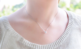 925 sterling silver cubic necklace Women's silver necklace for gift