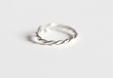 Ring——925 Sterling Silver Twisted Ring,Simple Adjustable Ring