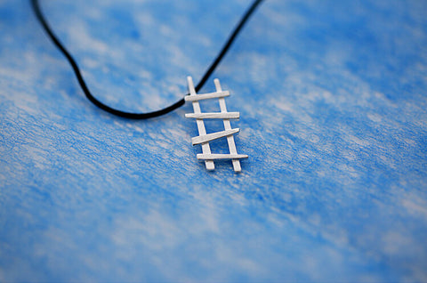 925 sterling silver Ladder Necklace,simple silver necklace,a dainty gift