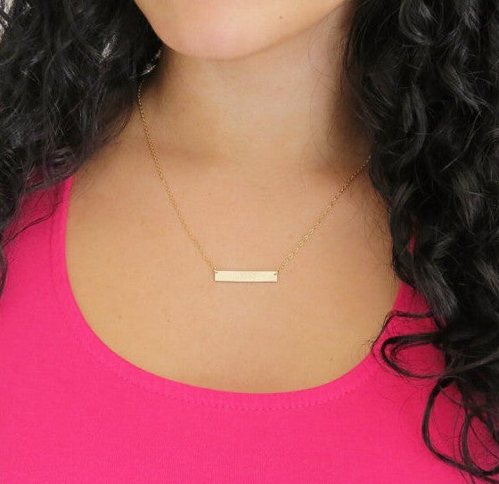 for graduation best vertical necklace in coordinate bar friendship gold valenti day valentines gift buy her jewelry personalized friend rose silver a wedding location college plated shop bridesmaid