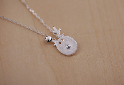 925 Sterling Silver adorable deer necklace