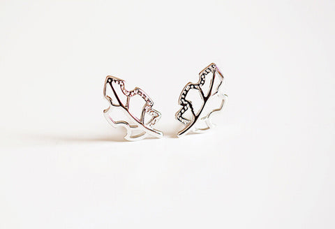 925 sterling silver earrings, leaf earrings, delicate and lovely gifts