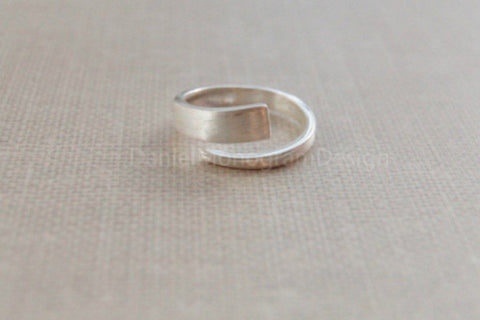 Sterling silver ring,simple ring,adjustable ring,open ring