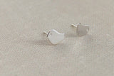 Birds sterling silver earrings,cute love bird earrings,silver earring studs