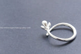 925 Sterling Silver flower ring,Magnolia ring,Yulan flower adjustable ring