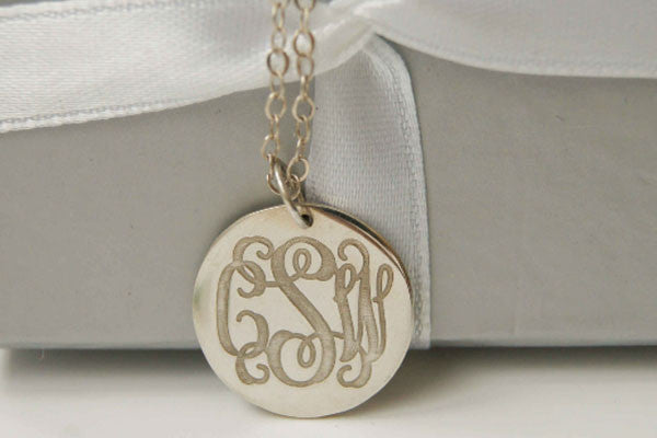 Custom silver disc monogram necklace08 engraved monogram custom silver disc monogram necklace08 engraved monogram necklace 3 initials monogram necklace925 sterling silver monogram necklace aloadofball Images