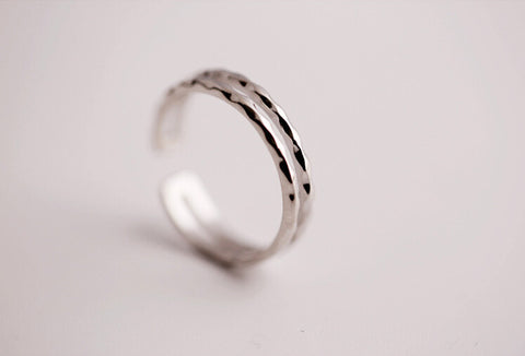 925 sterling silver ripple opening ring ,simple silver ring,a dainty gift