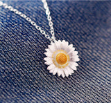 925 sterling silver unique personality necklace (Daisy double color necklace)