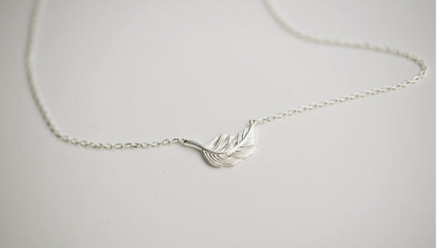 925 sterling silver chains (clever feathers sets) silver necklace