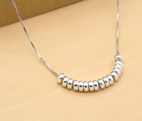 925 Sterling Silver  bead necklace, personalized fashion necklace,A perfect gift
