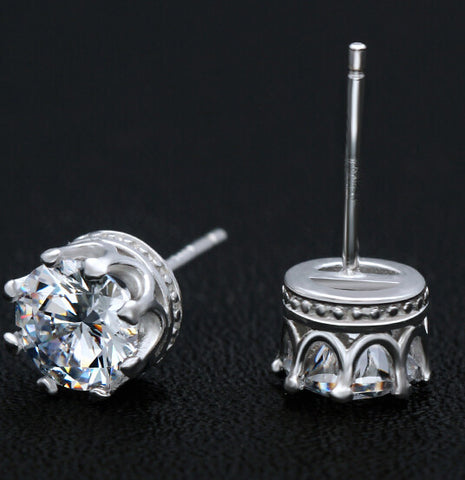 925 sterling silver zircon lovers earings,a perfect gift