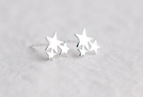 925 sterling silver pentagram lover earrings,lovely star earrings,a perfect gift