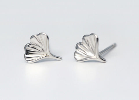 925 sterling silver Sweet  simple Ginkgo Leaf Earrings,a perfect gift