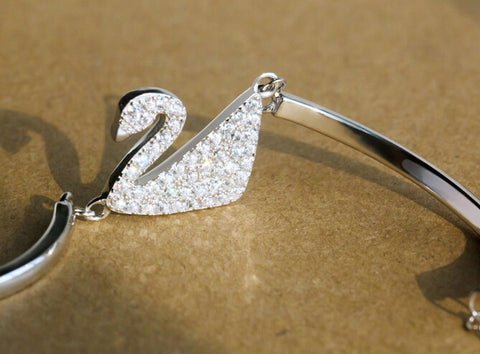 925 sterling silver Little Swan Zircon Bracelet,a perfect gift