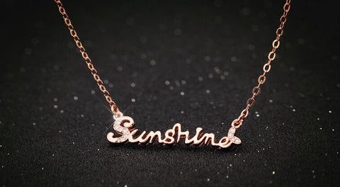 925 sterling silver letter necklace, a perfect gift