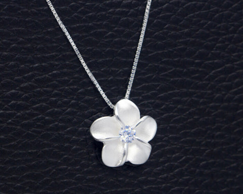 925 sterling silver bauhinia flower necklace,simple sweet  bauhinia flower necklace,a perfect gift