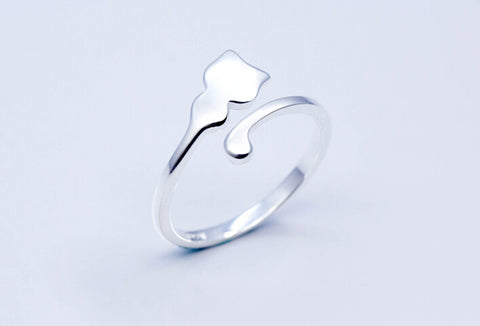 925 sterling silver Staying adorable Meow star people opening ring,,a perfect gift