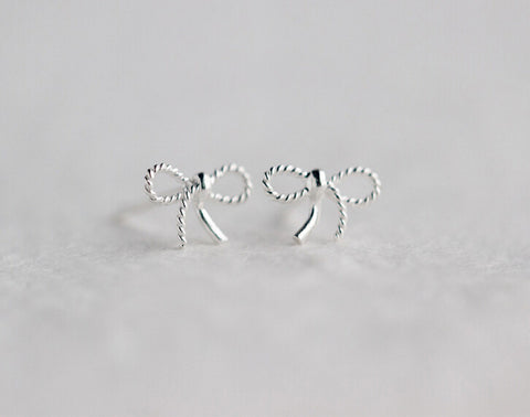 925 sterling silver bowknot Earrings , a perfect gift