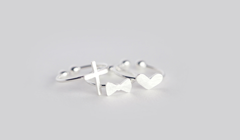 Simple 925 sterling silver tail ring, a perfect gift