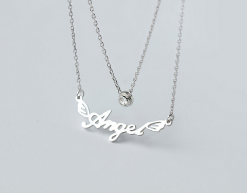 925 sterling silver necklace fashion double deck monogram, a perfect gift