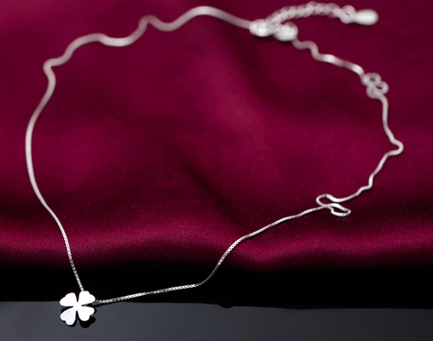 Fashion clovers 925 sterling silver necklace, a perfect gift