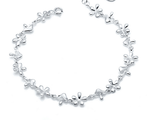 Fresh little flower 925 sterling silver bracelet, a perfect gift