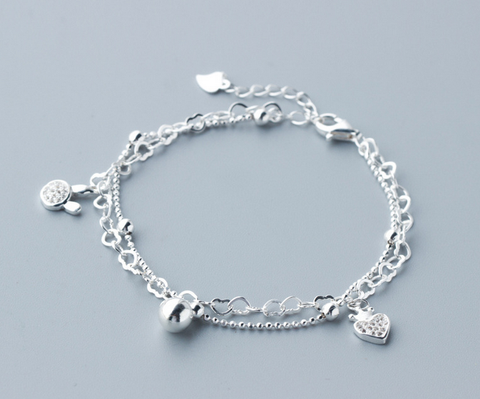 Sweet fashion 925 sterling silver bracelet