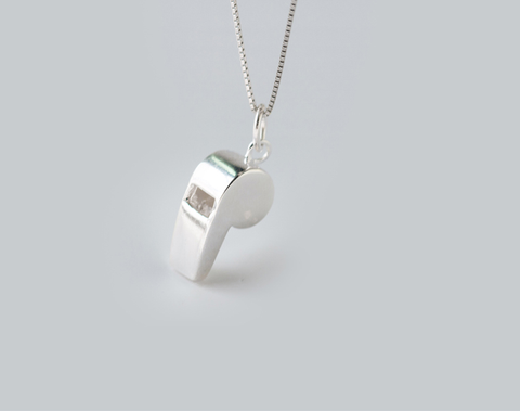 Super cute whistle 925 Sterling Silver Pendant, a perfect gift