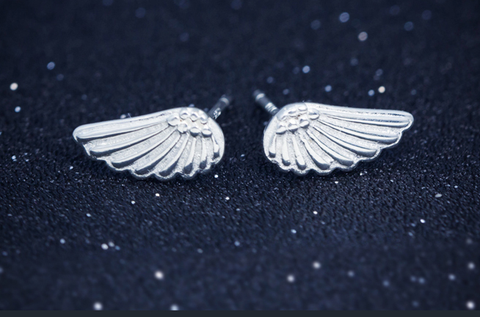 Wings Earrings, 925 sterling silver earrings