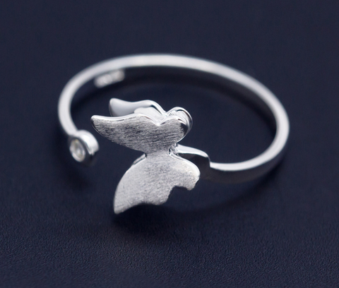 Fashion of the butterfly 925 Sterling Silver ring ,  a perfect gift