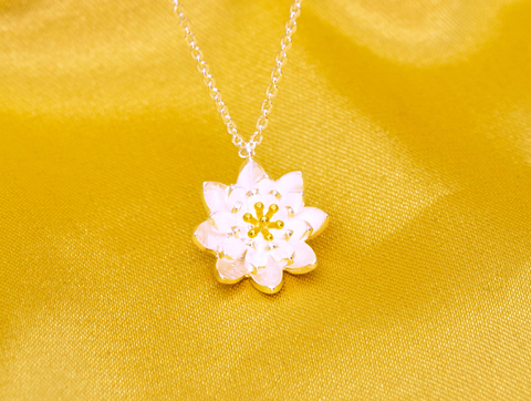 Fashion lotus 925 sterling silver necklace,a perfect gift
