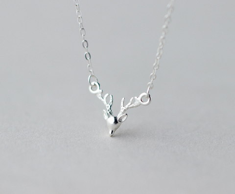 Sweet elk angle 925 Sterling Silver necklace, a perfect gift