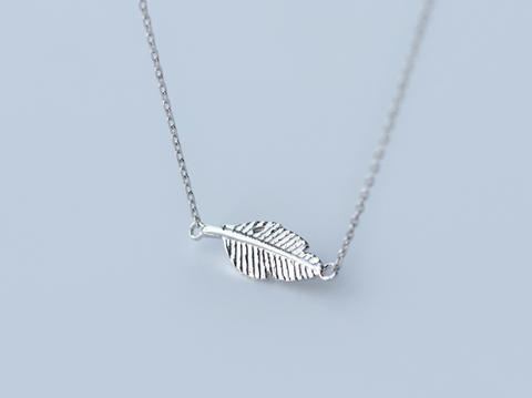 Fashion tree leafs 925 Sterling Silver necklace, a perfect gift