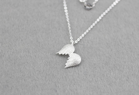 925 Sterling Silver Angel wings necklace,a perfect gift !