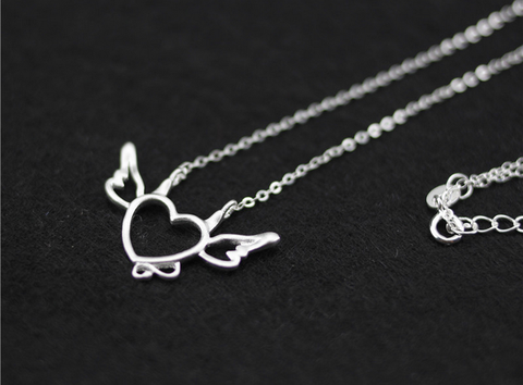 925 sterling silver hollow cute little devil clavicle chain,a perfect gift!