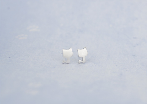 925 sterling silver lovely cat earrings,a perfect gift !