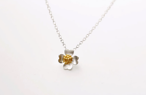 The new 925 sterling silver chain (Jin Rui four petals sets) jewelry necklace