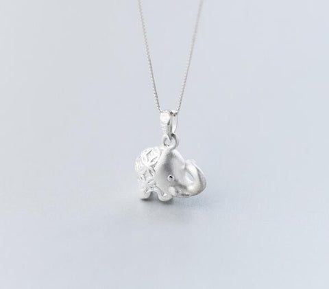 925 sterling silver cute elephant baby necklace, a perfect gift