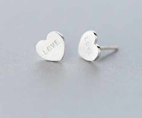 925 sterling silver love heart earrings, a perfect gift