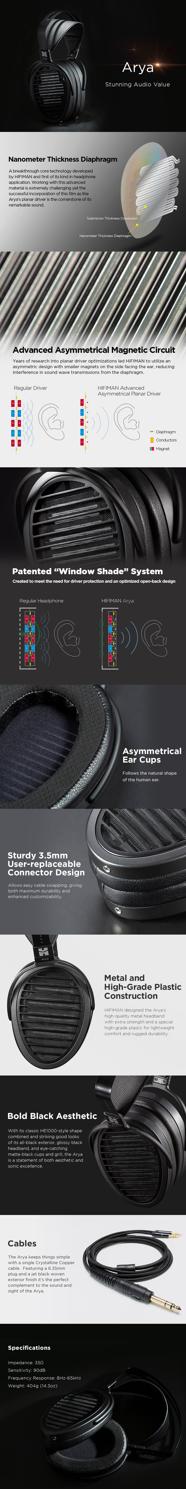 Hifiman Arya Buy Canada Description