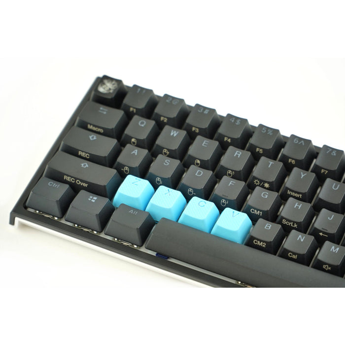 Rubber Gaming keycaps ZXCV - Neon Blue