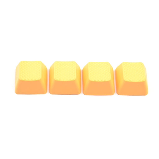 Rubber Gaming Keycaps Blank- Neon Orange