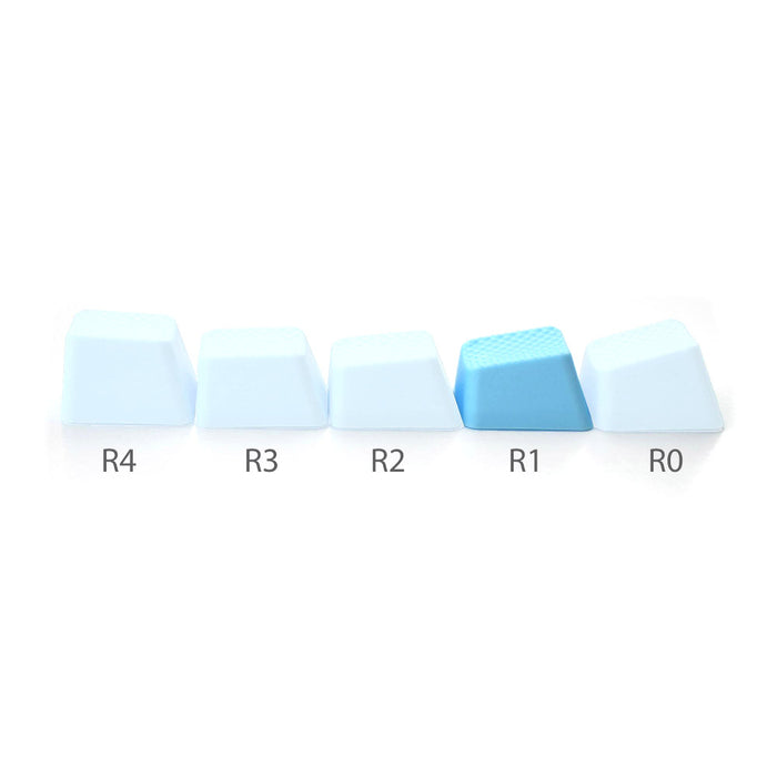 Rubber Gaming keycaps blank - Neon Blue