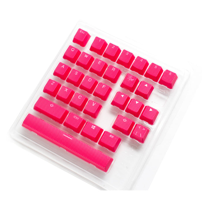 Ducky Rubber Gaming Keycap set - Red - 31pcs