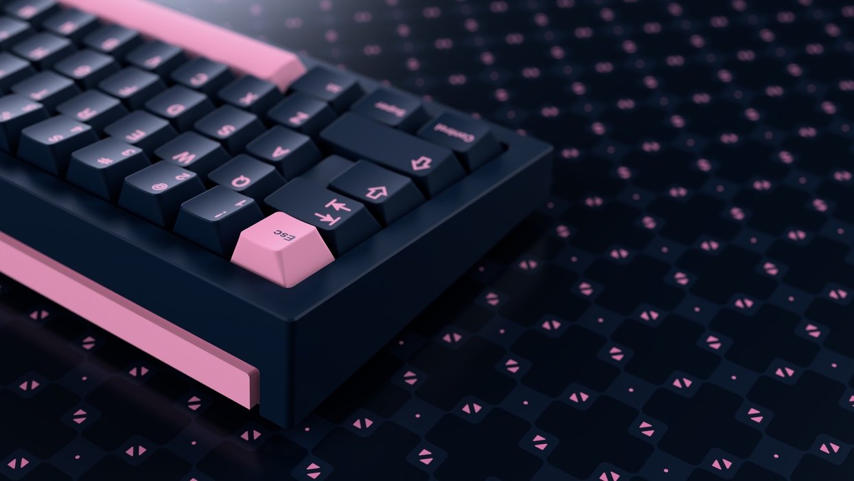 GMK Pink on Navy