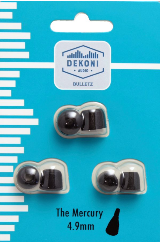 Dekoni Audio Premium Memory Foam Isolation Earphone Tips black – The MERCURY – 4.9mm, 3 pack SM, MED, LRG