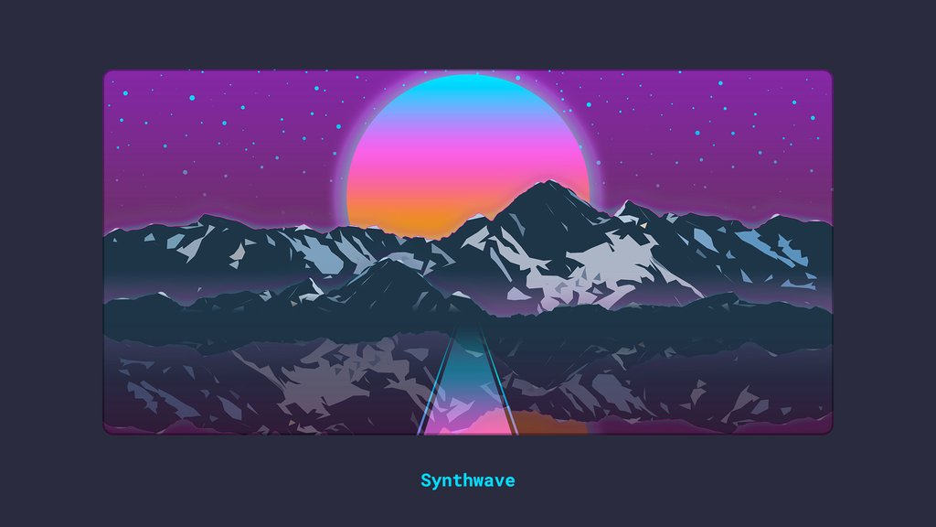 Deskmat - Synthwave Series