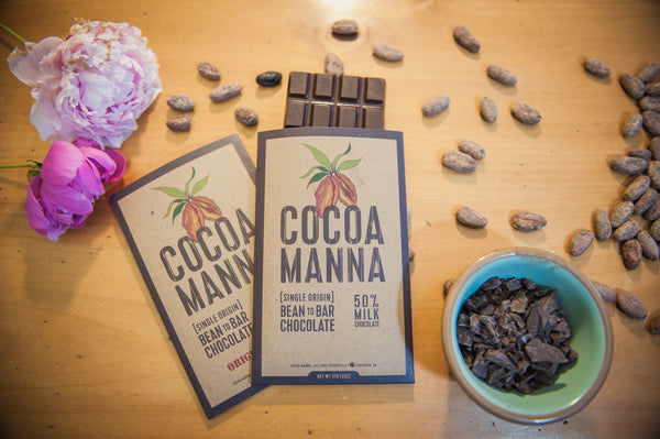Cocoa Manna Bean-to-bar chocolate (with beans)