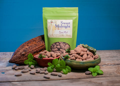 Sweet Midnight sweetened whole cocoa beans (cacao)