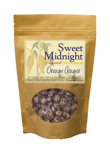 Sweet Midnight Orange Ginger Cocoa Beans